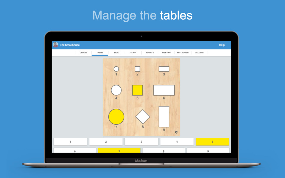 Manage the <b>tables</b>